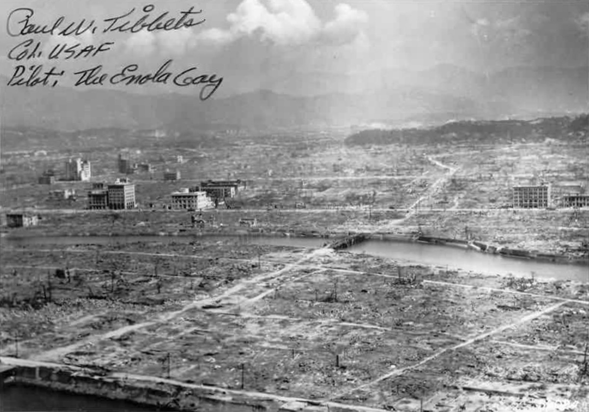 Ground view of Hiroshima after the bomb.