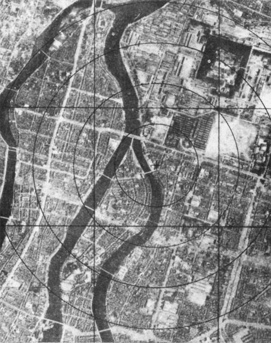 Hiroshima before the atomic bomb was dropped.