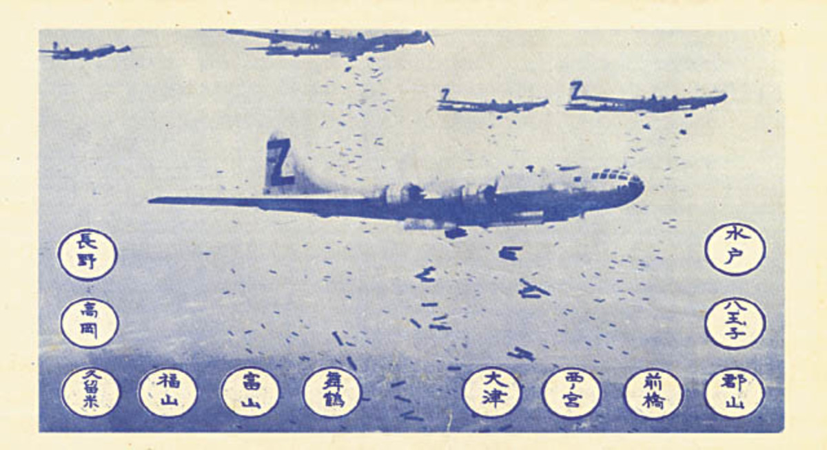 A leaflet that was dropped by American bombers to warn Japanese citizens of an impending air raid.