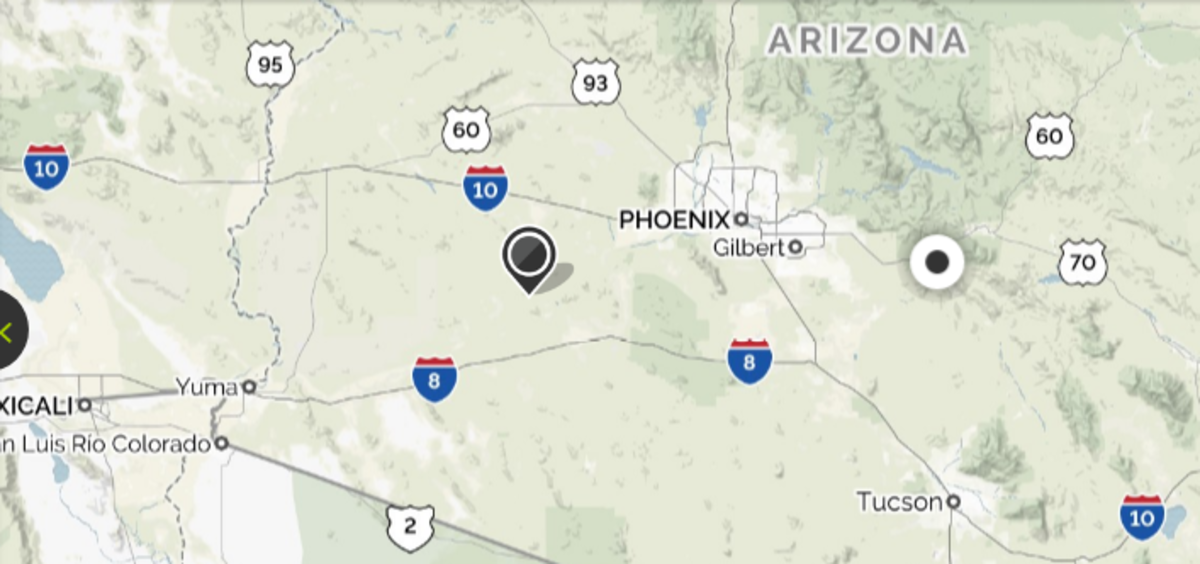 70 miles west of Tucson near a Papago Indian village, the Spanish reportedly discovered gold.