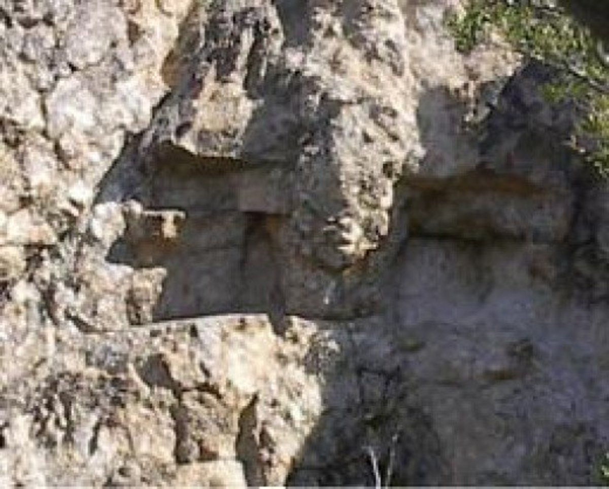 The Iron Door Mine in the Santa Catalina Mountains - the eyes of San Ramon