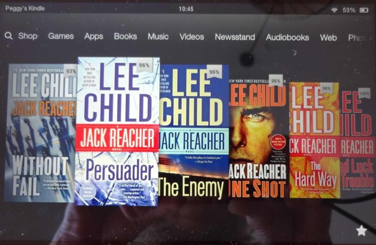 More of Lee Child's novels on my Kindle