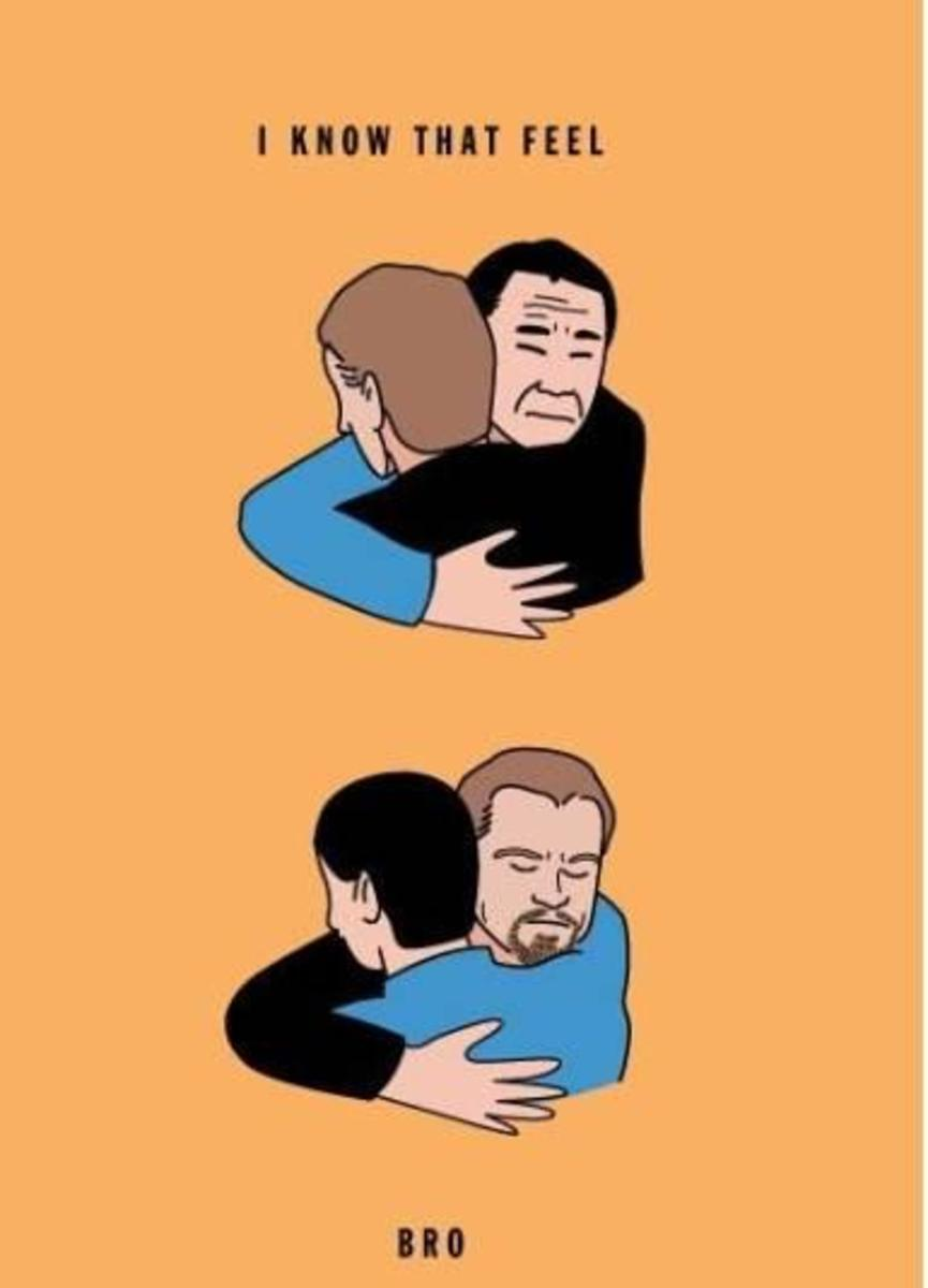 Nobel neglected Murakami gets a bro hug from fellow prize-deprived Leonarado DiCaprio.  The DiCaprio curse has now ended, but will Murakami ever get his medal?