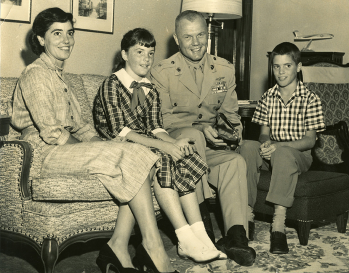 John and Annie Glenn with their two children.