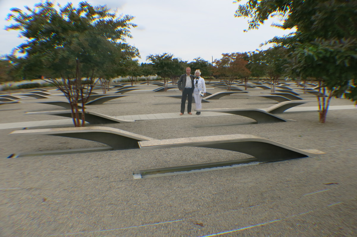 9/11 Memorial Next to Pentagon in Washington, D.C.honoring those who lost their lives in attack on Pentagon.