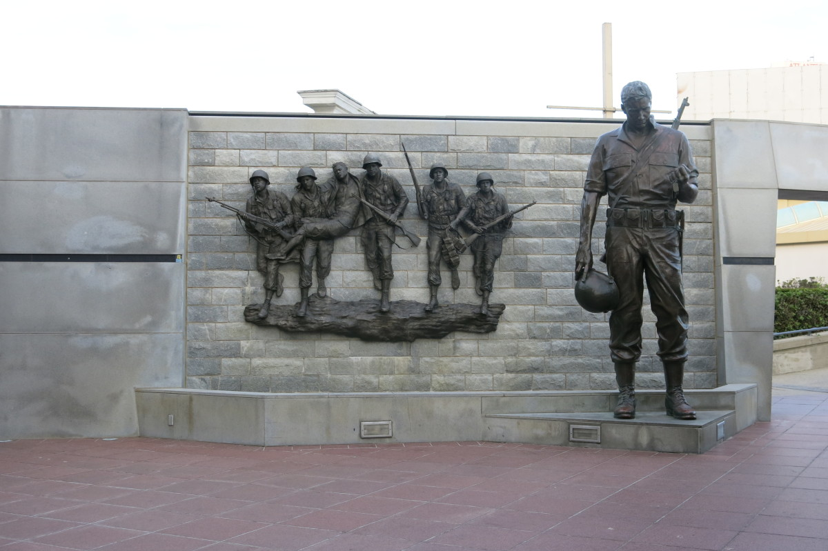 Part of a Monument to Veterans of Korean War in Atlantic City, New Jersey