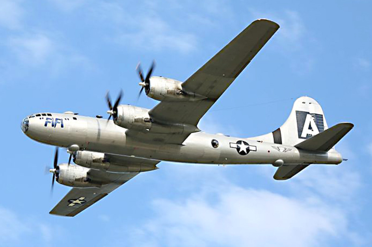 Boeing B-29 Superfortress. The plane that dropped the Atom Bombs on Japan. The British airforce knew this as the Washington B1, and had several in service post-war. It was one of the heaviest bombers Eric ever piloted.