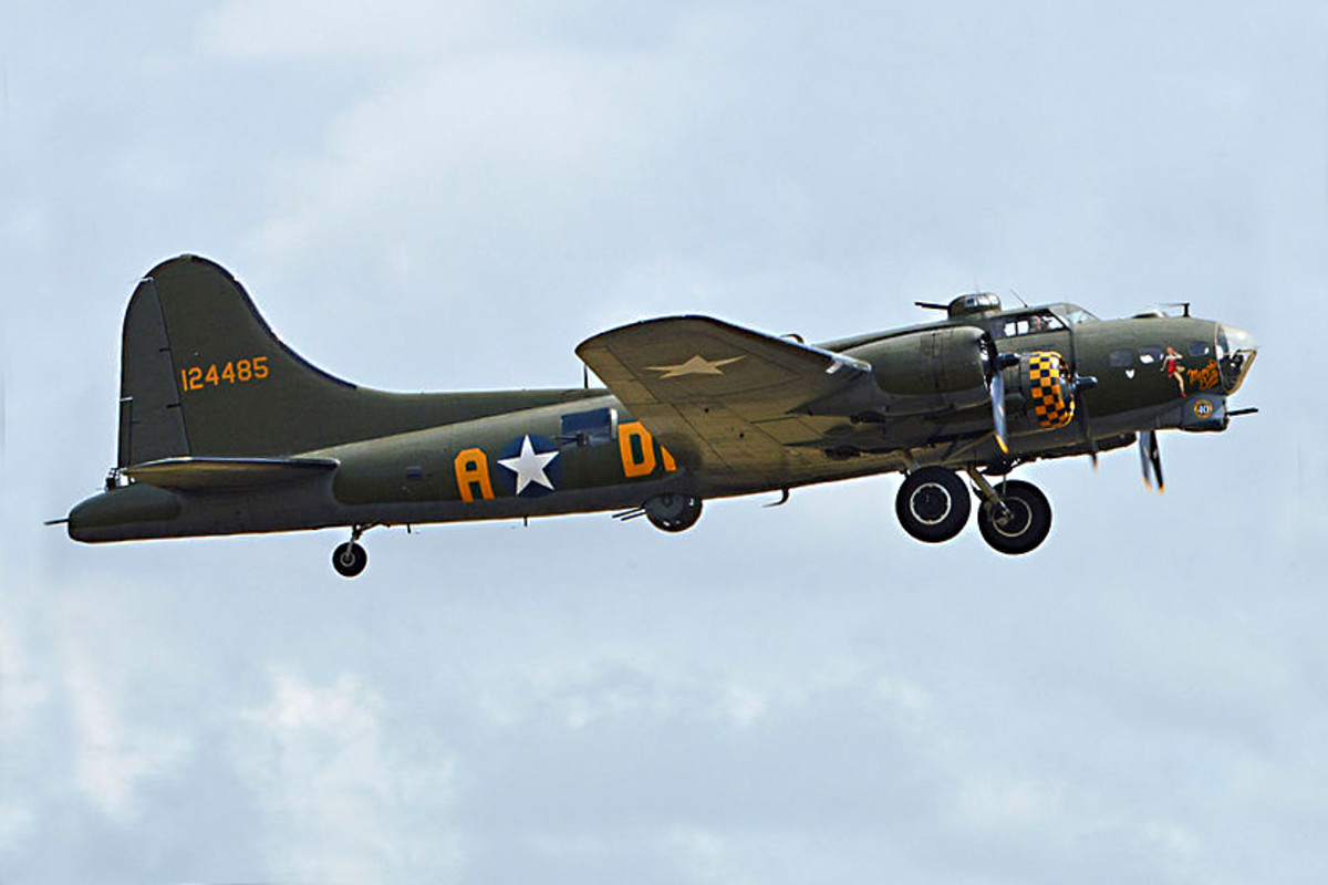 B-17 Flying Fortress. This famous American bomber became one of the mainstays of the US airforce during the Second World War, and was one of numerous bombers from all different airforces which were flown by Eric Brown.