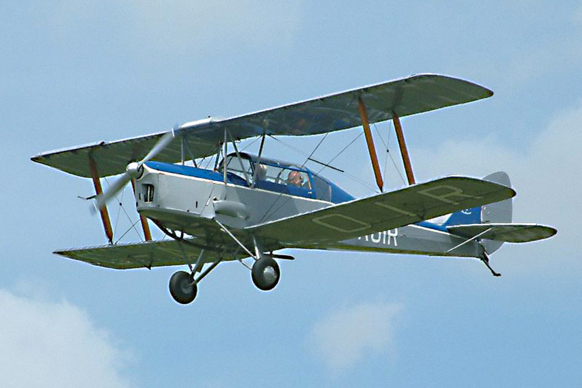 Thruxton Jackaroo. A late addition to the bi-plane tradition, the wonderfully named Jackaroo was essentially a converted de Havilland Tiger Moth, utilised since 1957 for a variety of purposes - everything from crop spraying to sky-diving!