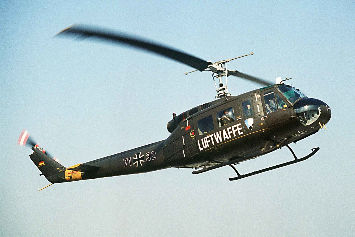 Bell UH-1 Iroquois. Popularly known as the 'Huey' (because of its original HU-1 designation) the Bell UH-1 first flew with the US Army in 1956, but has since been used by the military of many nations, and like the Hercules its still operational today