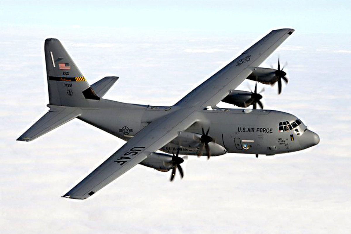 Lockheed C-130 Hercules. This famous military transport plane first entered service in 1954, and variants are still flying today. Indeed it holds the record as the longest continuously produced military aircraft in the world.