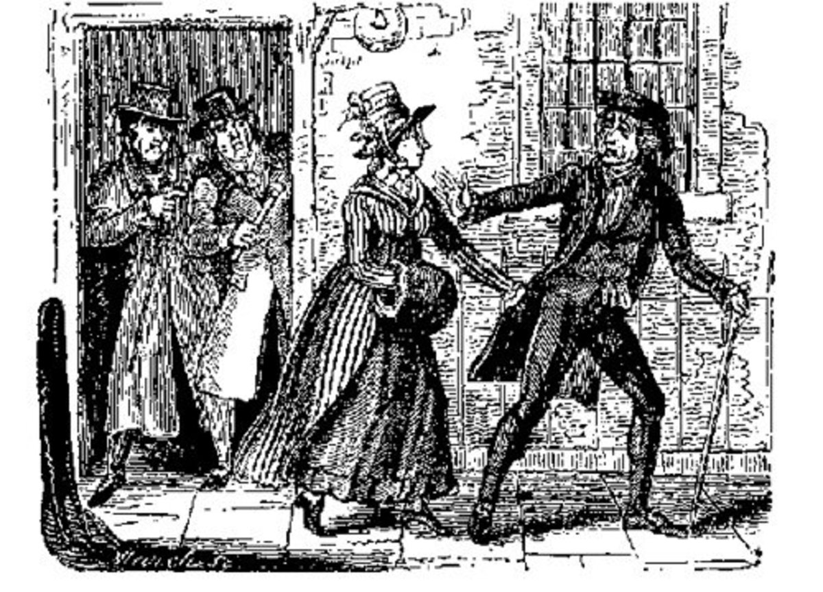 A clergyman is about to fall prey to Wild's Buttock and Twang attack.