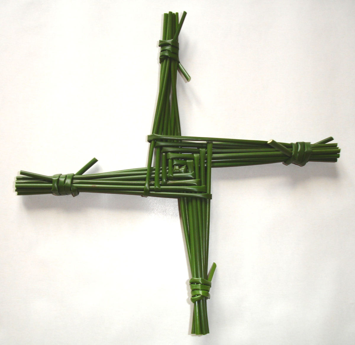 Brigith's cross as woven on the Celtic festival of Imbolc