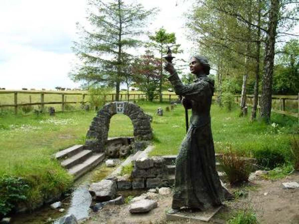 St. Brigid's well at Kildare, her monastery that no longer stands, where pagans and Christians leave prayers and talismans.