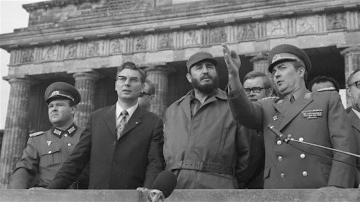 Fidel Castro visits Moscow in 1963.