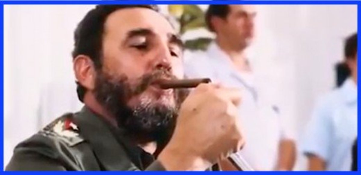 Once rarely seen without a Cuban cigar in his mouth or hand, Castro would later quit and warn of smoking's health dangers.