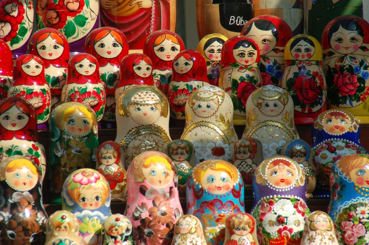 Matryoshka doll display