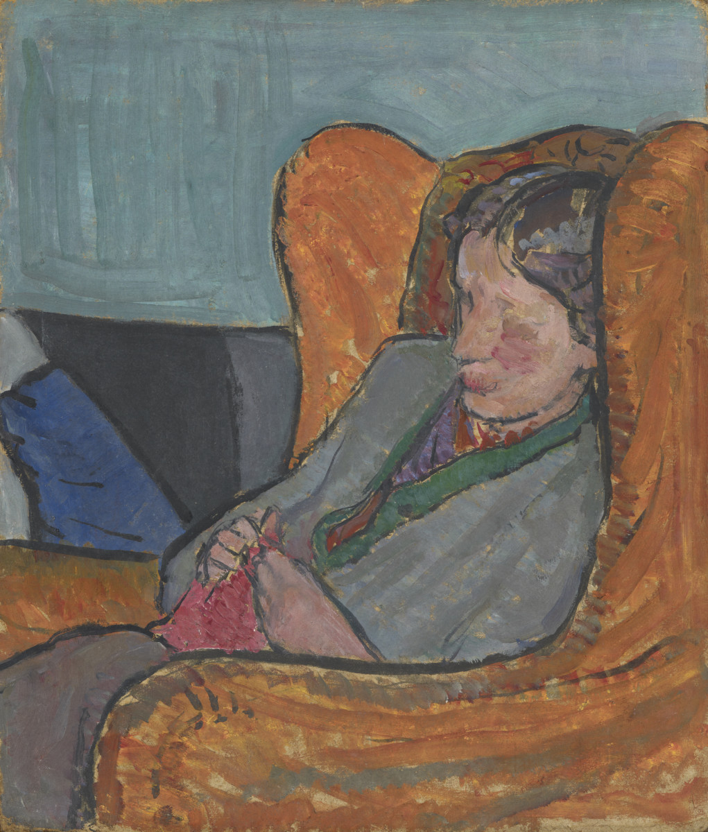 Bell depicts her sister Virginia reclining in a chair. Image courtesy of National Portrait Gallery, London, NPG 5933. Copyright National Portrait Gallery. All rights reserved