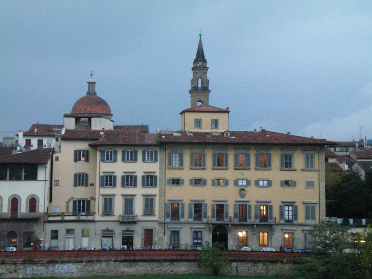 Overlooking the Arno, Florence © A Harrison