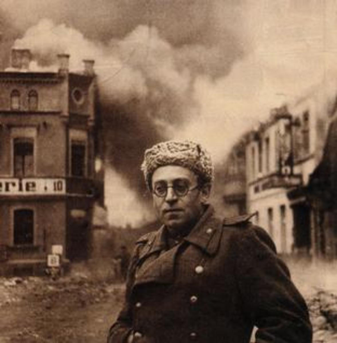 Grossman with the Red Army in Germany, 1945