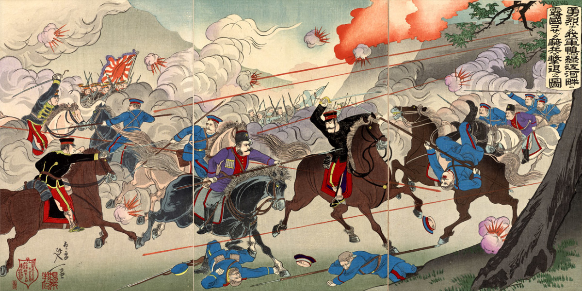 Depiction of Battle-scene from Russo-Japanese War
