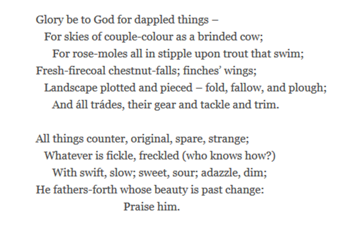 an explication of gerard manley hopkins peace