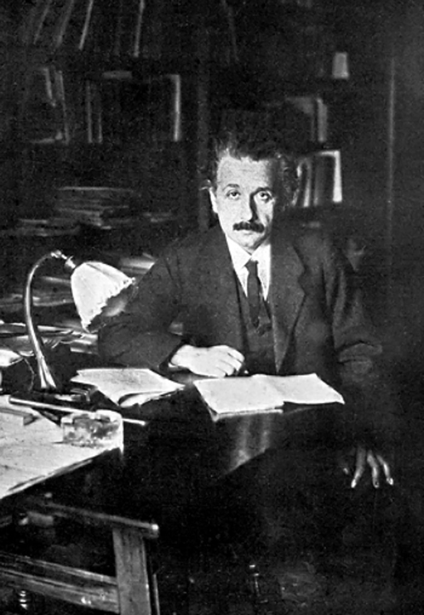 Albert Einstein in his Office at the University of Berlin, 1920