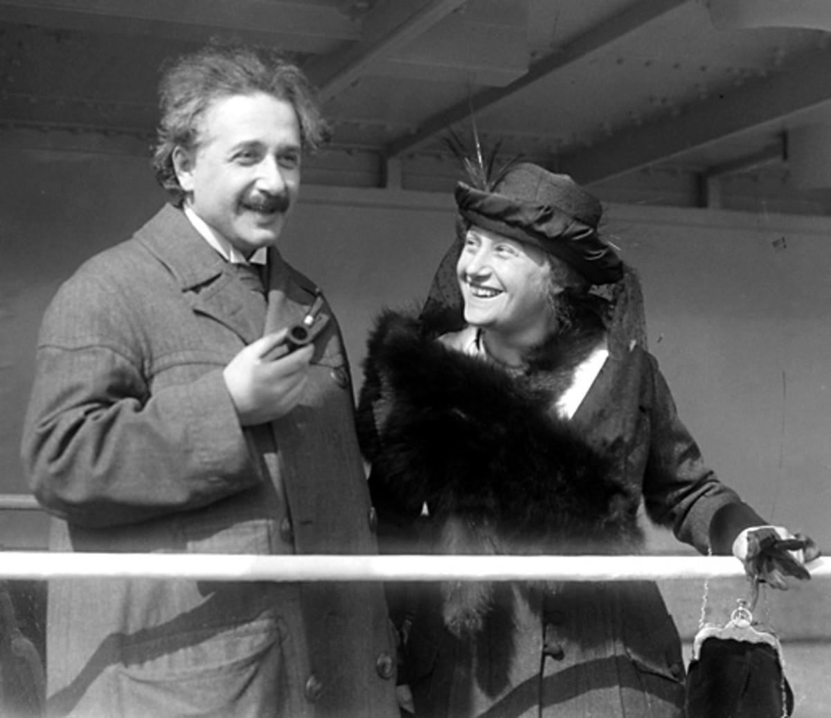 Albert Einstein and his wife Elsa