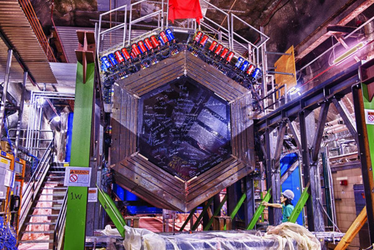 The MINERvA detector at Fermilab.