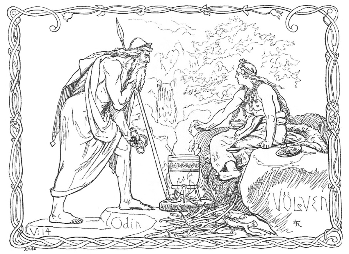 Odin and a Volva