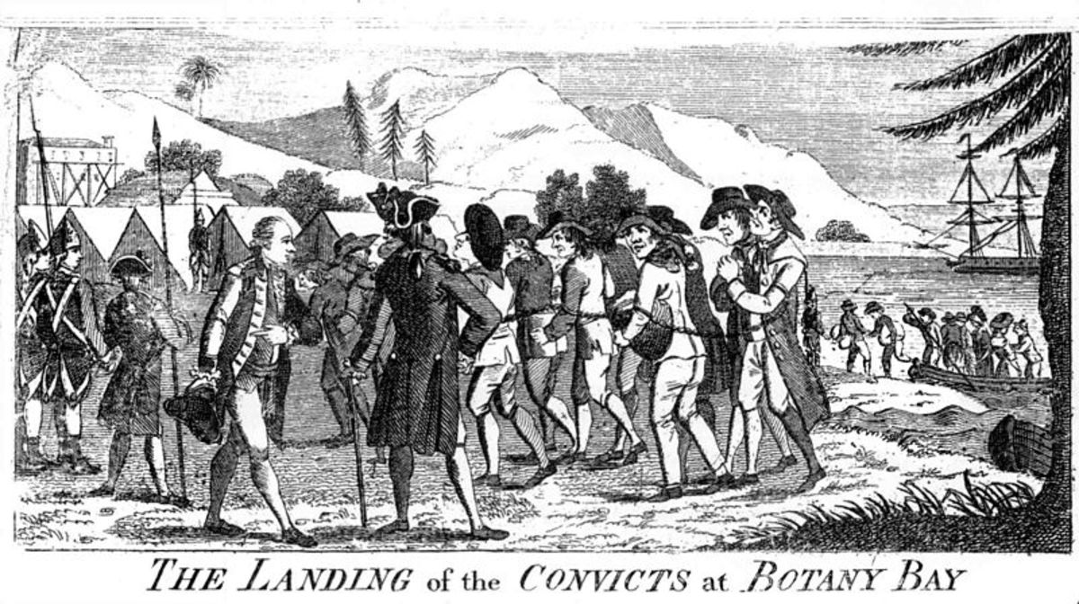 The Landing of the Convicts at Botany Bay