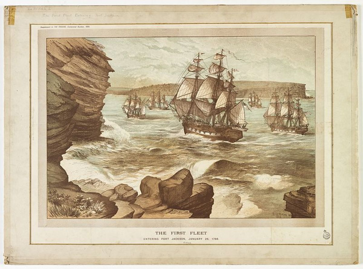 The First Fleet Entering Port Jackson