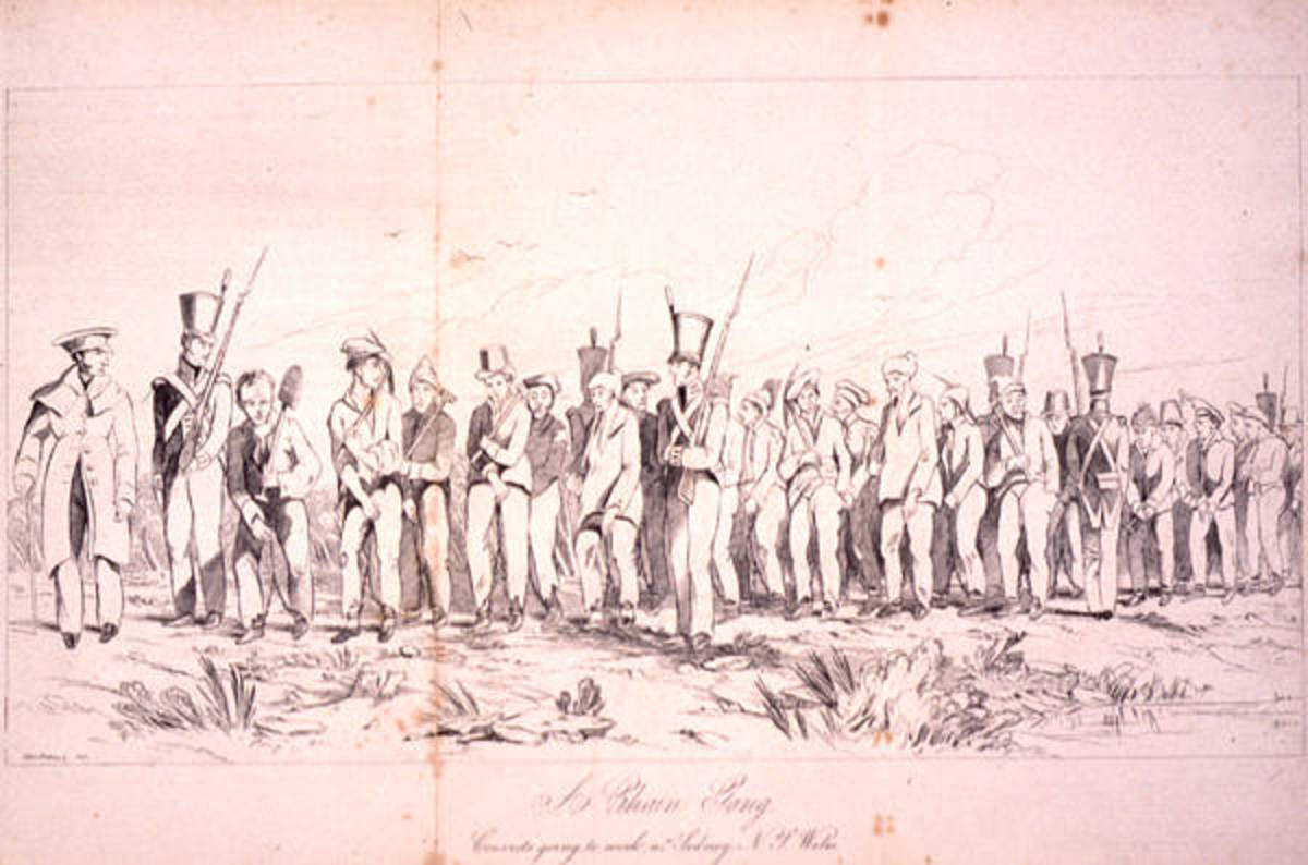 Convicts going to work near Sydney