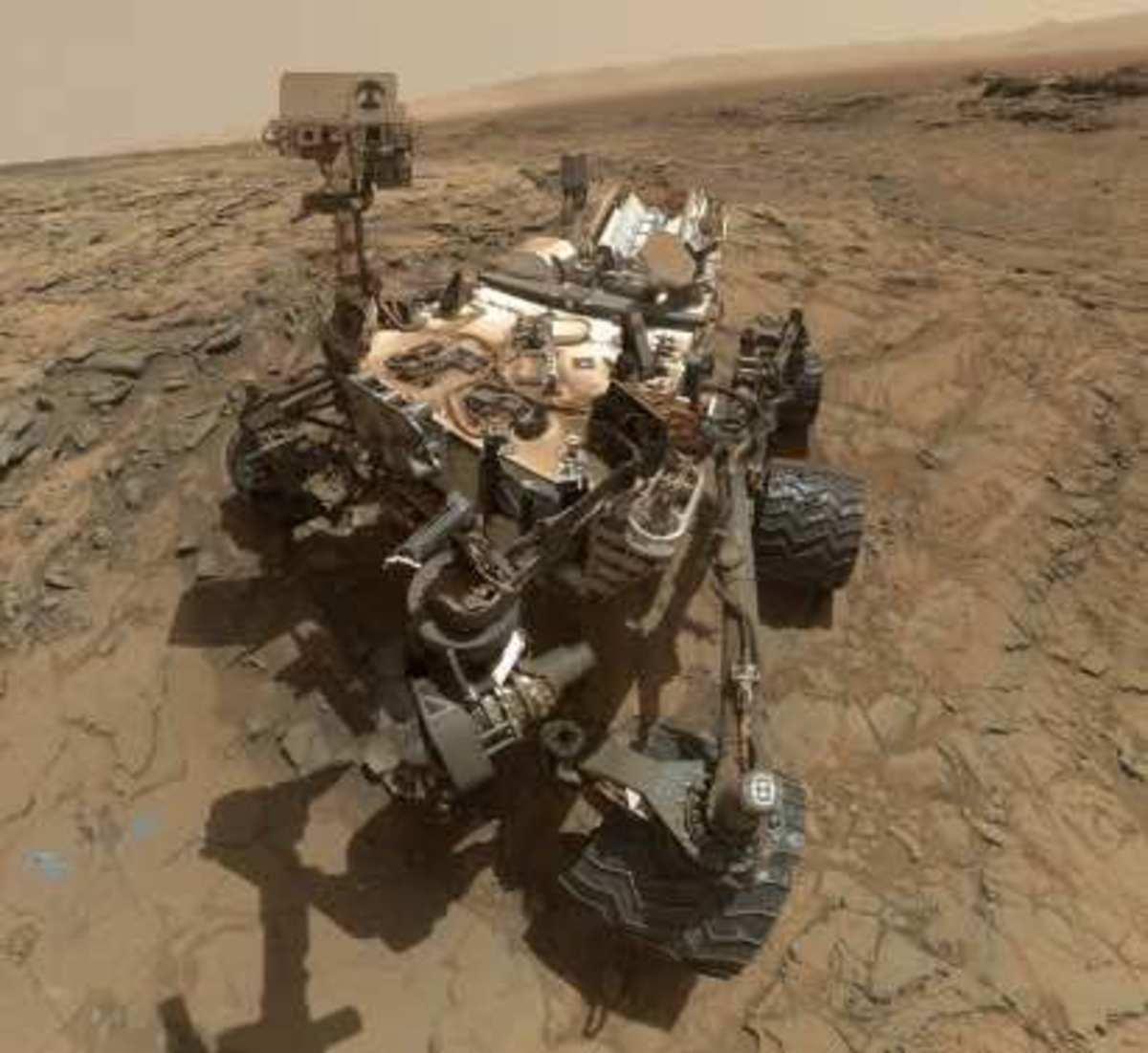 Curiosity Rover Selfie in Bigsky Region of Mars