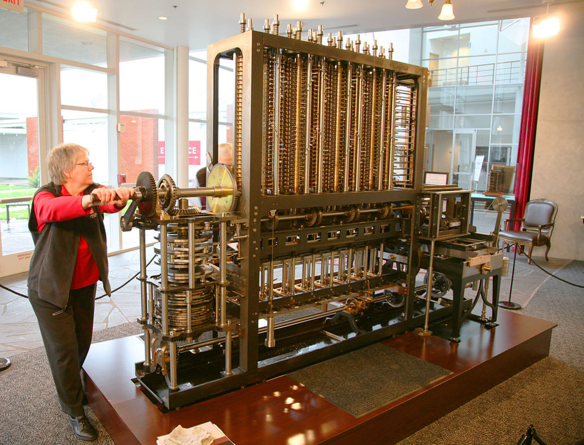 Calculator from over a century ago. Charles Babbage's difference machine.