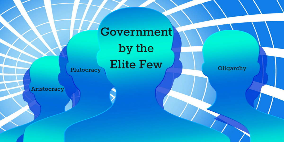 Many forms of government have an elite few ruling over the people.