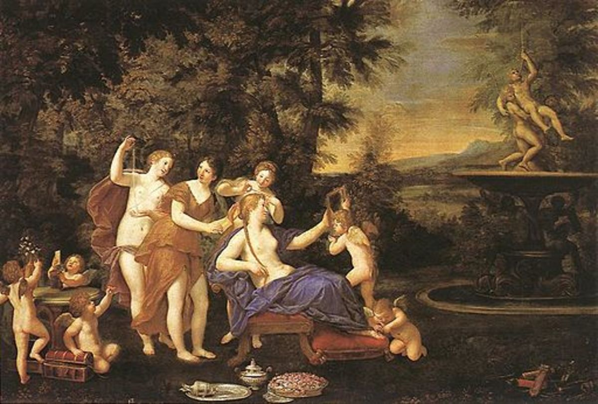 Venus Attended by Nymphs and Cupids. by Francesco Albani