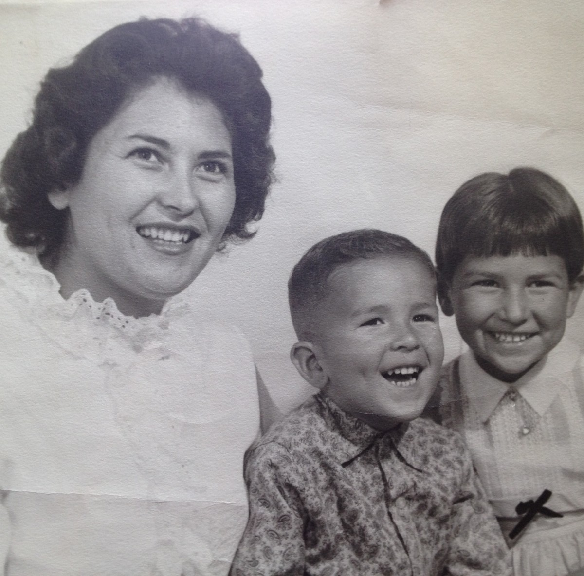 My mom and her two little (part-time) Adventists. I'm the funny looking one on the end.