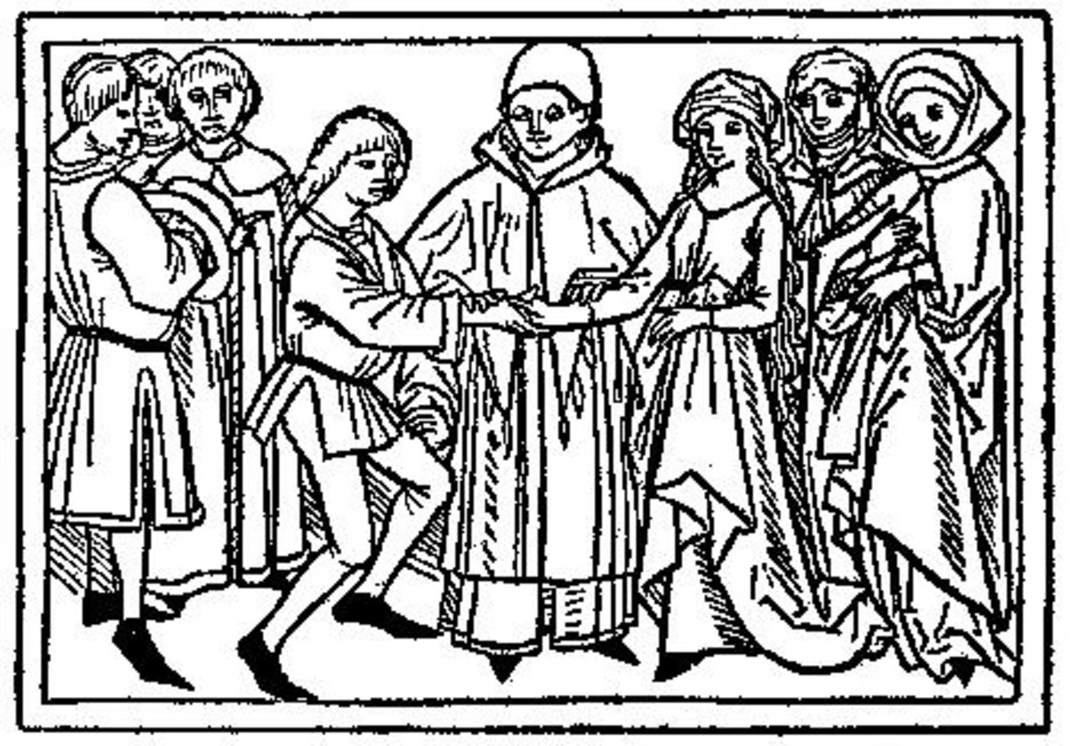 Depiction of a Medieval Marriage