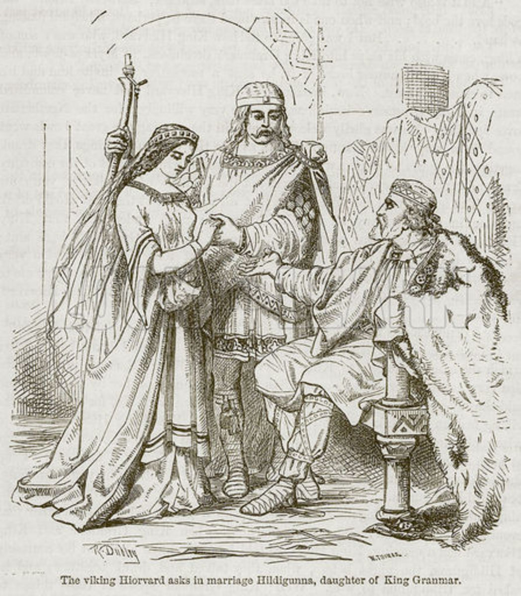 Illustration of a Viking Betrothal