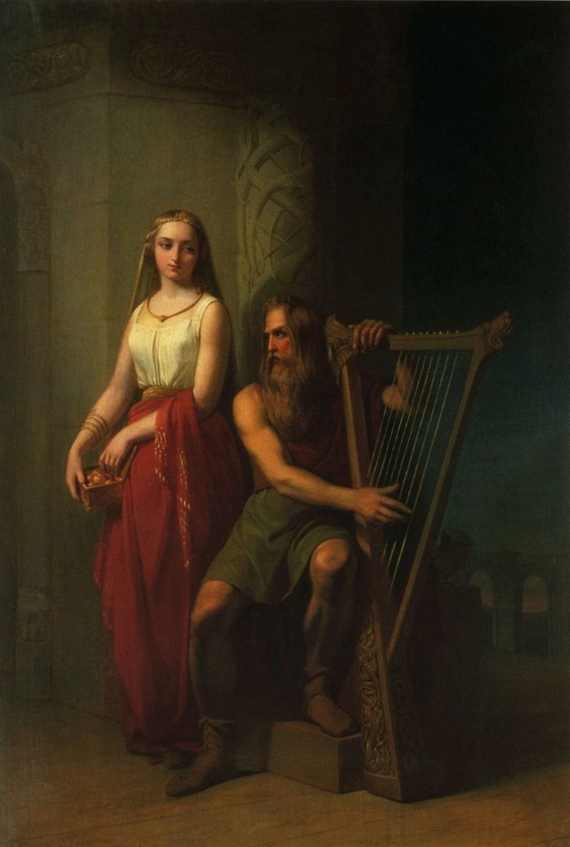 Idun and Bragi from Nils Blommér (1846)