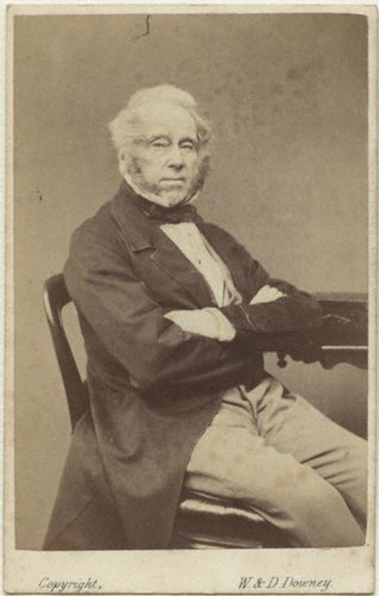 Lord Palmerston photographed in 1863
