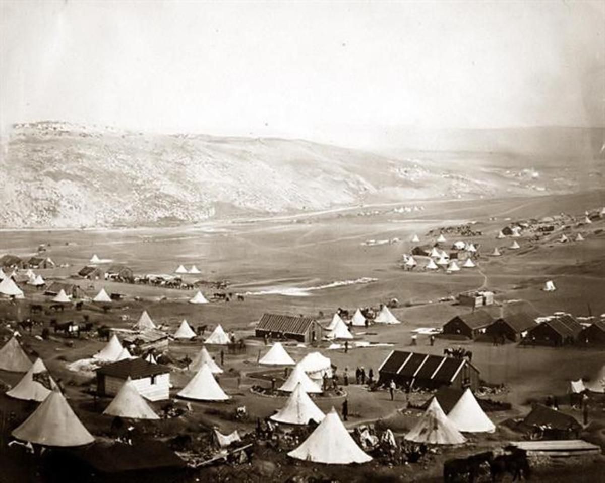 A British Crimean War Cavalry Camp