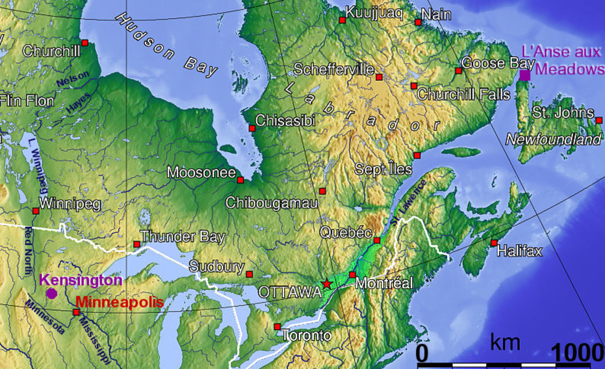 The location of Kensington MN