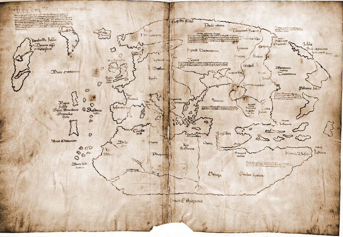 A map that supposedly shows the location of Vinland, although this is almost certainly a fake.