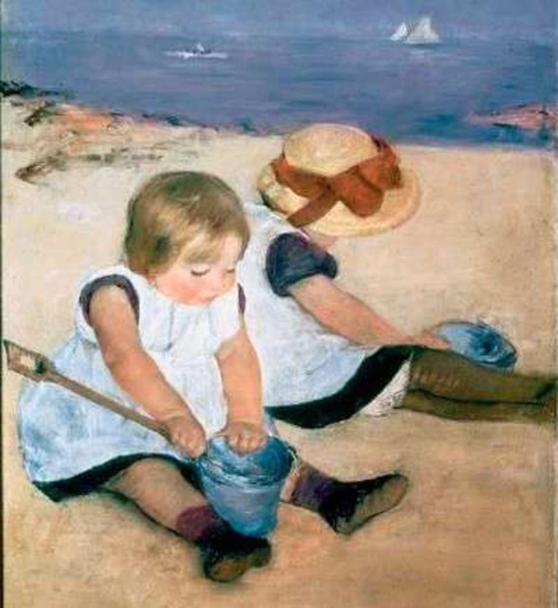 Children Playing on the Beach, by M. Cassat, (1884)