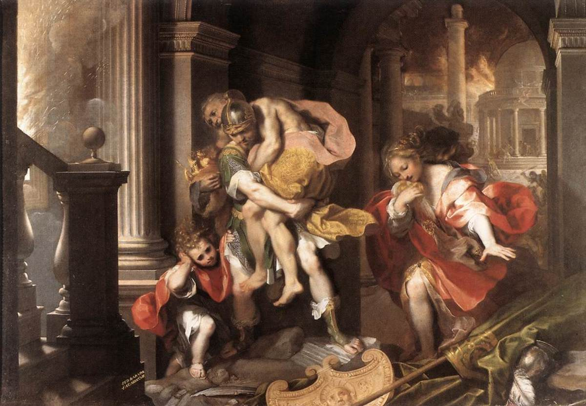 Aeneis Fleeing Troy
