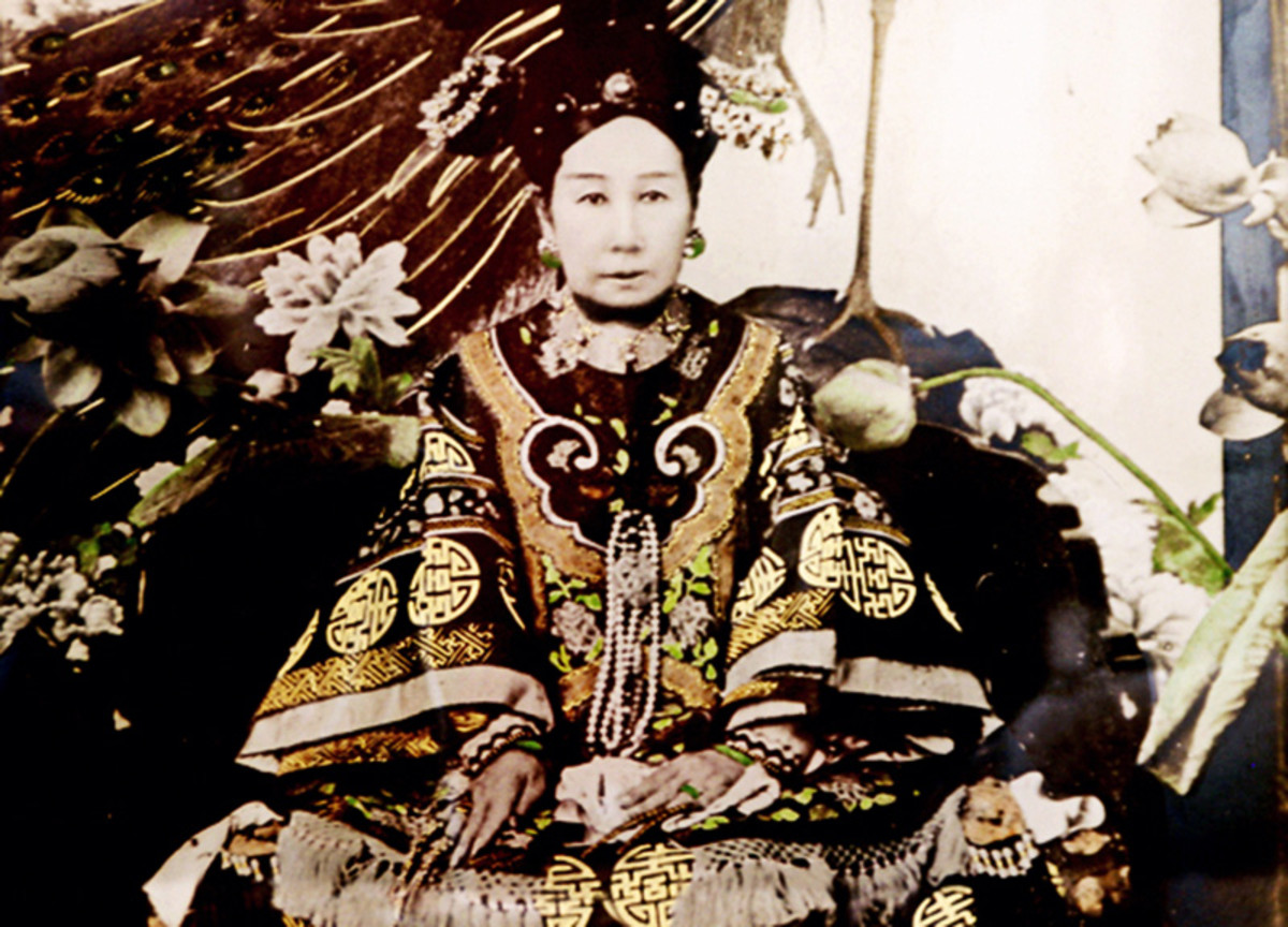 Historical photo of Empress Dowager Cixi. She is often blamed for China's various defeats by European imperial powers.