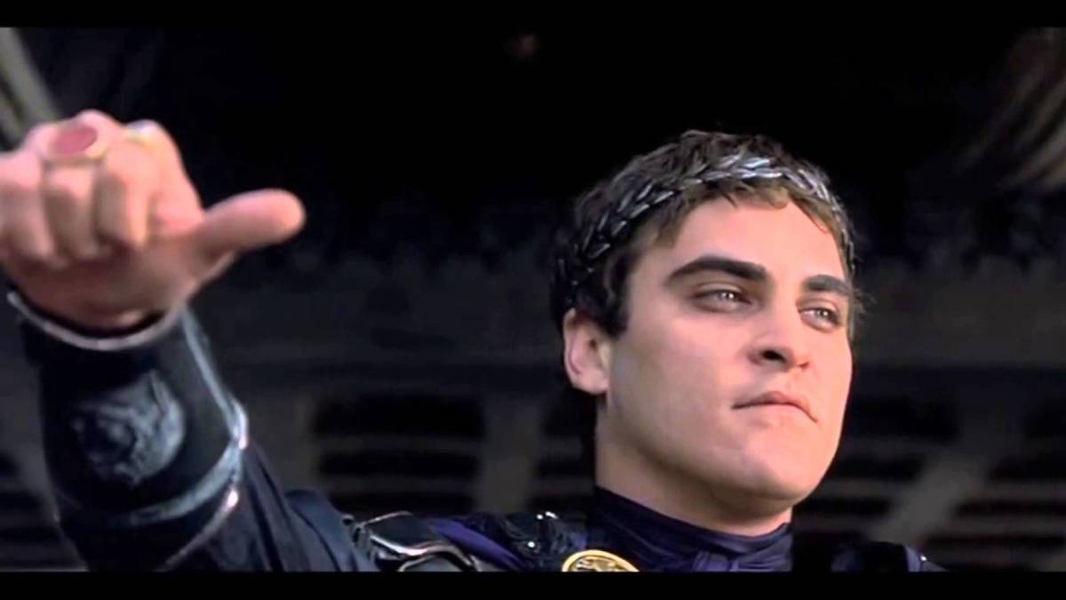 Image result for romans giving thumbs down