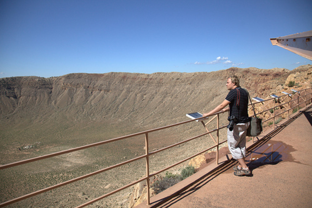 The Barringer Crater.
